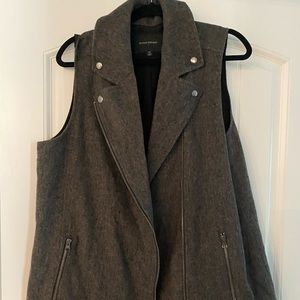 Wool moto vest